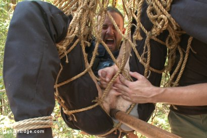 Photo number 8 from Officer Bullet - Ass fucked and edged in the middle of the woods shot for Men On Edge on Kink.com. Featuring Jimmy Bullet in hardcore BDSM & Fetish porn.