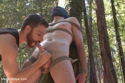 Photo number 11 from Officer Bullet - Ass fucked and edged in the middle of the woods shot for Men On Edge on Kink.com. Featuring Jimmy Bullet in hardcore BDSM & Fetish porn.