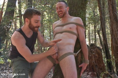 Photo number 13 from Officer Bullet - Ass fucked and edged in the middle of the woods shot for Men On Edge on Kink.com. Featuring Jimmy Bullet in hardcore BDSM & Fetish porn.