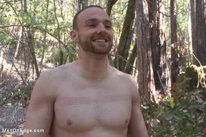 Photo number 15 from Officer Bullet - Ass fucked and edged in the middle of the woods shot for Men On Edge on Kink.com. Featuring Jimmy Bullet in hardcore BDSM & Fetish porn.