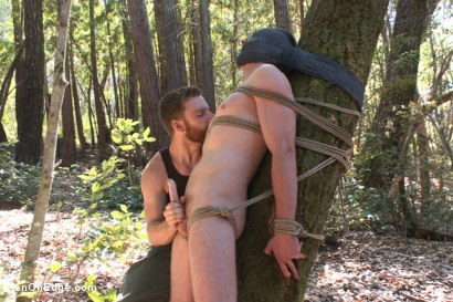 Officer Bullet - Ass fucked and edged in the middle of the woods