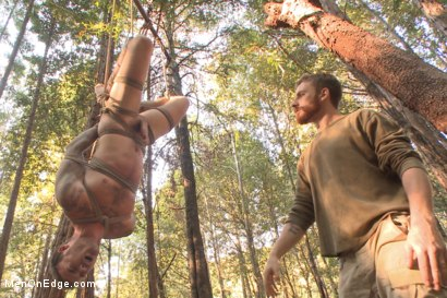 Photo number 14 from Bound Christian Wilde begs to cum in the woods shot for Men On Edge on Kink.com. Featuring Christian Wilde in hardcore BDSM & Fetish porn.