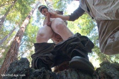 Photo number 6 from Bound Christian Wilde begs to cum in the woods shot for Men On Edge on Kink.com. Featuring Christian Wilde in hardcore BDSM & Fetish porn.