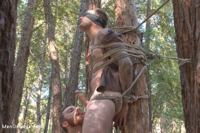 Photo number 4 from Bound Christian Wilde begs to cum in the woods shot for Men On Edge on Kink.com. Featuring Christian Wilde in hardcore BDSM & Fetish porn.