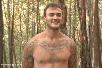 Photo number 15 from Bound Christian Wilde begs to cum in the woods shot for Men On Edge on Kink.com. Featuring Christian Wilde in hardcore BDSM & Fetish porn.