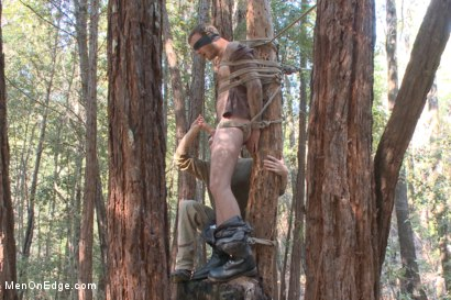 Photo number 7 from Bound Christian Wilde begs to cum in the woods shot for Men On Edge on Kink.com. Featuring Christian Wilde in hardcore BDSM & Fetish porn.
