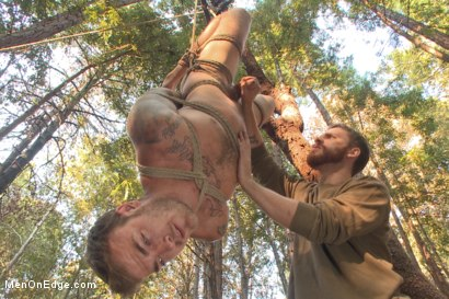 Photo number 11 from Bound Christian Wilde begs to cum in the woods shot for Men On Edge on Kink.com. Featuring Christian Wilde in hardcore BDSM & Fetish porn.