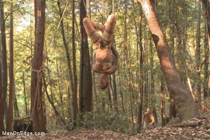 Photo number 9 from Bound Christian Wilde begs to cum in the woods shot for Men On Edge on Kink.com. Featuring Christian Wilde in hardcore BDSM & Fetish porn.