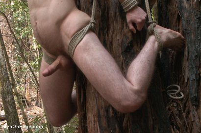 Photo number 6 from Bi stud bound and edged in the forrest shot for Men On Edge on Kink.com. Featuring Dirk Wakefield in hardcore BDSM & Fetish porn.