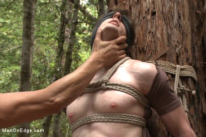 Photo number 8 from Bi stud bound and edged in the forrest shot for Men On Edge on Kink.com. Featuring Dirk Wakefield in hardcore BDSM & Fetish porn.