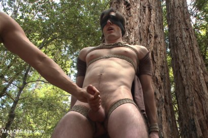 Photo number 3 from Bi stud bound and edged in the forrest shot for Men On Edge on Kink.com. Featuring Dirk Wakefield in hardcore BDSM & Fetish porn.