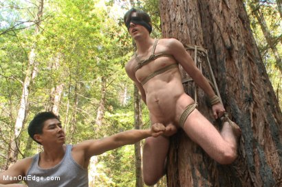 Photo number 5 from Bi stud bound and edged in the forrest shot for Men On Edge on Kink.com. Featuring Dirk Wakefield in hardcore BDSM & Fetish porn.