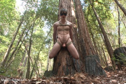 Photo number 7 from Bi stud bound and edged in the forrest shot for Men On Edge on Kink.com. Featuring Dirk Wakefield in hardcore BDSM & Fetish porn.