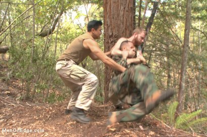 Photo number 3 from Russian soldier captured and edged deep in the woods shot for Men On Edge on Kink.com. Featuring Valentin Petrov in hardcore BDSM & Fetish porn.