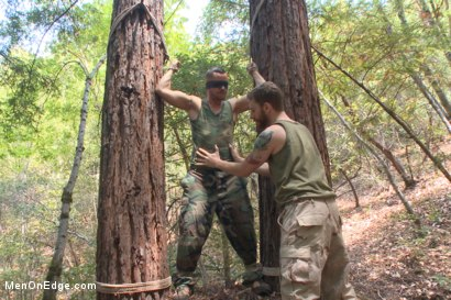 Photo number 4 from Russian soldier captured and edged deep in the woods shot for Men On Edge on Kink.com. Featuring Valentin Petrov in hardcore BDSM & Fetish porn.