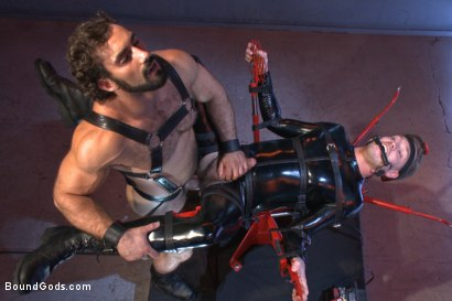 Photo number 8 from The Onyx Converter - The Onyx vs The Redz Series shot for Bound Gods on Kink.com. Featuring Jaxton Wheeler and Lucas Knight in hardcore BDSM & Fetish porn.