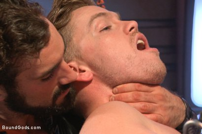 Photo number 2 from The Onyx Converter - The Onyx vs The Redz Series shot for Bound Gods on Kink.com. Featuring Jaxton Wheeler and Lucas Knight in hardcore BDSM & Fetish porn.