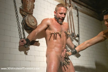 Photo number 9 from Muscled hunk Dirk Caber relentlessly tormented and his ass violated  shot for 30 Minutes of Torment on Kink.com. Featuring Dirk Caber in hardcore BDSM & Fetish porn.