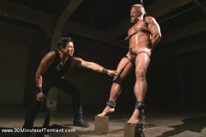 Photo number 5 from Muscled hunk Dirk Caber relentlessly tormented and his ass violated  shot for 30 Minutes of Torment on Kink.com. Featuring Dirk Caber in hardcore BDSM & Fetish porn.