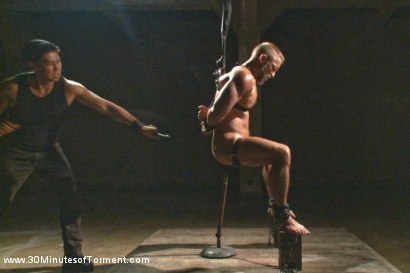 Photo number 7 from Muscled hunk Dirk Caber relentlessly tormented and his ass violated  shot for 30 Minutes of Torment on Kink.com. Featuring Dirk Caber in hardcore BDSM & Fetish porn.