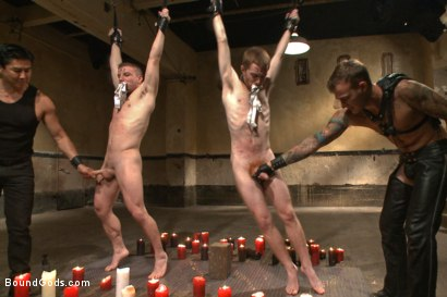 Photo number 2 from Big Cock Galore - Live Show shot for Bound Gods on Kink.com. Featuring Van Darkholme, Christian Wilde, Seamus O'Reilly and Doug Acre in hardcore BDSM & Fetish porn.
