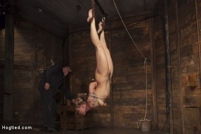 Photo number 13 from Destroying Dahlia shot for Hogtied on Kink.com. Featuring Sgt. Major and Dahlia Sky in hardcore BDSM & Fetish porn.