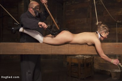 Photo number 3 from Destroying Dahlia shot for Hogtied on Kink.com. Featuring Sgt. Major and Dahlia Sky in hardcore BDSM & Fetish porn.