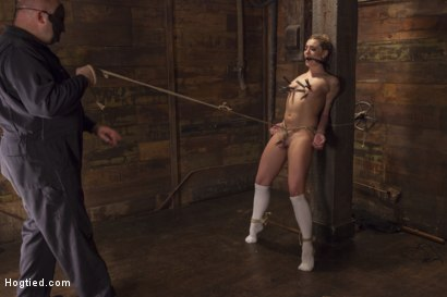 Photo number 4 from Destroying Dahlia shot for Hogtied on Kink.com. Featuring Sgt. Major and Dahlia Sky in hardcore BDSM & Fetish porn.