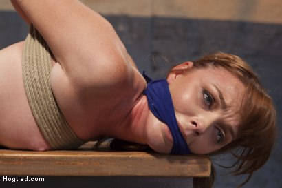 Photo number 8 from Dirty Redhead Slut Scrubbed Clean shot for Hogtied on Kink.com. Featuring Sgt. Major and Marie McCray in hardcore BDSM & Fetish porn.