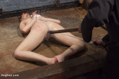 Photo number 14 from Dirty Redhead Slut Scrubbed Clean shot for Hogtied on Kink.com. Featuring Sgt. Major and Marie McCray in hardcore BDSM & Fetish porn.