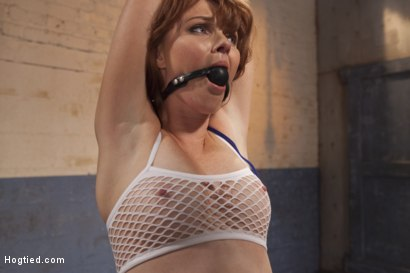 Photo number 1 from Dirty Redhead Slut Scrubbed Clean shot for Hogtied on Kink.com. Featuring Sgt. Major and Marie McCray in hardcore BDSM & Fetish porn.