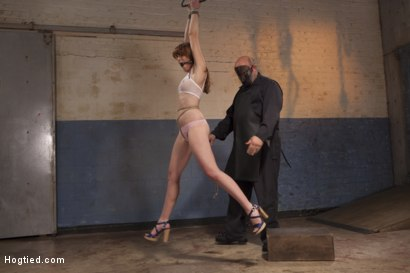 Photo number 2 from Dirty Redhead Slut Scrubbed Clean shot for Hogtied on Kink.com. Featuring Sgt. Major and Marie McCray in hardcore BDSM & Fetish porn.