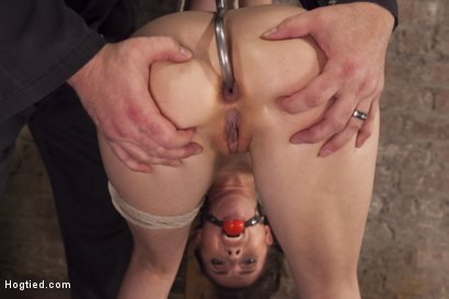 Photo number 14 from Casey Calvert Anal Hooked and Gagged shot for Hogtied on Kink.com. Featuring Sgt. Major and Casey Calvert in hardcore BDSM & Fetish porn.