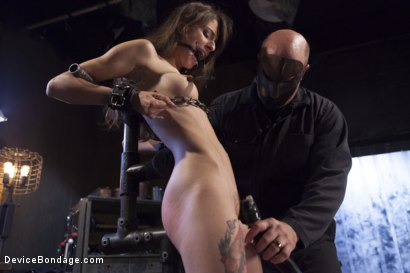 Photo number 2 from Newcomer Loses Her Innocence shot for Device Bondage on Kink.com. Featuring Sgt. Major and Willow Hayes in hardcore BDSM & Fetish porn.