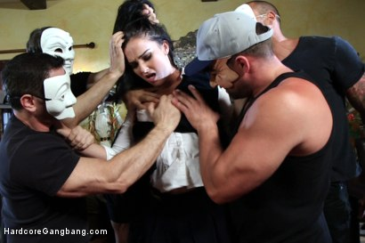 Photo number 1 from The SPLURGE: Patriotic Slut gets her GB fantasy in dystopic future shot for Hardcore Gangbang on Kink.com. Featuring Toni Ribas, Ramon Nomar, Bianca Breeze, Karlo Karrera, John Strong and Steve Holmes in hardcore BDSM & Fetish porn.