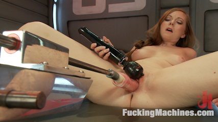 Scarlett Fay In the Armory and Fucking the Machines