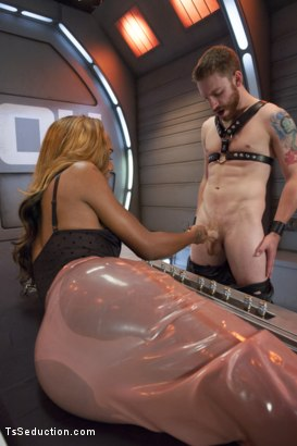 Photo number 1 from Kayla Biggs Brings The Cock Rain - 9 1/2 inches & 100% Cock Domination shot for TS Seduction on Kink.com. Featuring Kayla Biggs and Sebastian Keys in hardcore BDSM & Fetish porn.