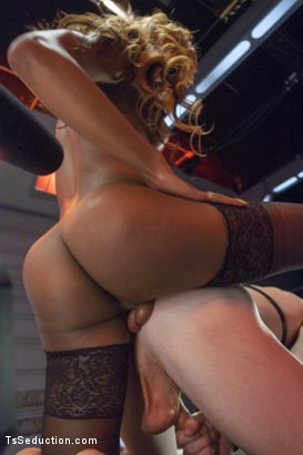 Photo number 3 from Kayla Biggs Brings The Cock Rain - 9 1/2 inches & 100% Cock Domination shot for TS Seduction on Kink.com. Featuring Kayla Biggs and Sebastian Keys in hardcore BDSM & Fetish porn.