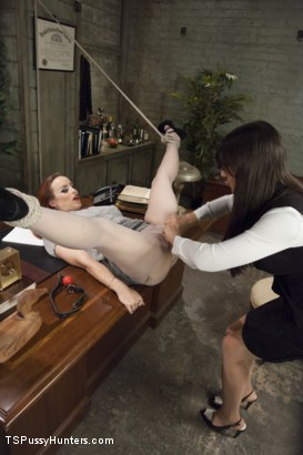 Photo number 2 from DEBUT PORN FOR TS BRENDA VON TEASE - She OWNS Bella Rossi's pussy shot for TS Pussy Hunters on Kink.com. Featuring Brenda Von Tease and Bella Rossi in hardcore BDSM & Fetish porn.