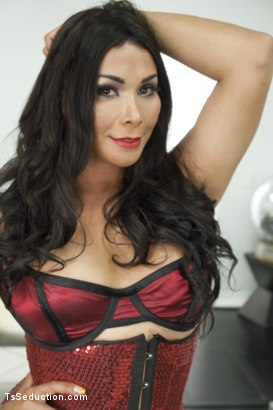 Photo number 18 from THE LEAGUE OF EXTRAORDINARY TRANSSEXUALS: PART 1 SUPER HERO FEATURE shot for TS Seduction on Kink.com. Featuring Vaniity, Courtney Taylor and Will Havoc in hardcore BDSM & Fetish porn.
