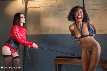 Photo number 7 from Slut Test: The Beautiful Lotus Lain shot for Electro Sluts on Kink.com. Featuring Lea Lexis and Lotus Lain in hardcore BDSM & Fetish porn.