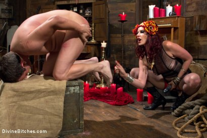 Photo number 8 from Sex Magick: BRUTAL and EXTREME sounding! shot for Divine Bitches on Kink.com. Featuring Maitresse Madeline Marlowe  and Marcelo in hardcore BDSM & Fetish porn.