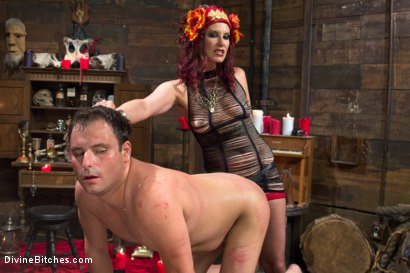 Photo number 9 from Sex Magick: BRUTAL and EXTREME sounding! shot for Divine Bitches on Kink.com. Featuring Maitresse Madeline Marlowe  and Marcelo in hardcore BDSM & Fetish porn.