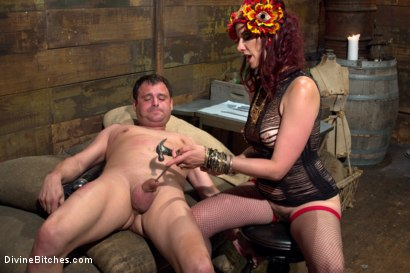 Photo number 11 from Sex Magick: BRUTAL and EXTREME sounding! shot for Divine Bitches on Kink.com. Featuring Maitresse Madeline Marlowe  and Marcelo in hardcore BDSM & Fetish porn.