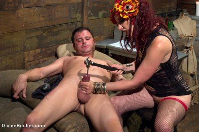 Photo number 15 from Sex Magick: BRUTAL and EXTREME sounding! shot for Divine Bitches on Kink.com. Featuring Maitresse Madeline Marlowe  and Marcelo in hardcore BDSM & Fetish porn.