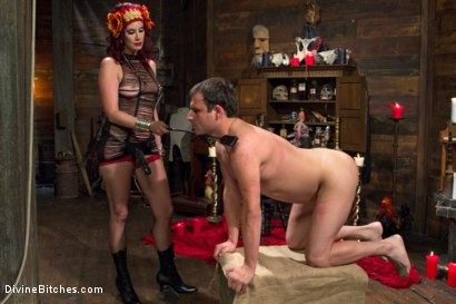 Photo number 5 from Sex Magick: BRUTAL and EXTREME sounding! shot for Divine Bitches on Kink.com. Featuring Maitresse Madeline Marlowe  and Marcelo in hardcore BDSM & Fetish porn.
