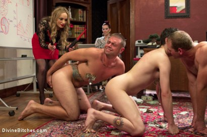 Photo number 5 from Corporate Scum CFNM Humiliation Take Over: Part 2 shot for Divine Bitches on Kink.com. Featuring Aiden Starr, Maitresse Madeline Marlowe , Jonah Marx, John Jammen and Jay West in hardcore BDSM & Fetish porn.