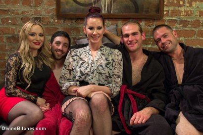 Photo number 9 from Corporate Scum CFNM Humiliation Take Over: Part 2 shot for Divine Bitches on Kink.com. Featuring Aiden Starr, Maitresse Madeline Marlowe , Jonah Marx, John Jammen and Jay West in hardcore BDSM & Fetish porn.
