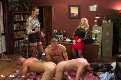 Photo number 4 from Corporate Scum CFNM Humiliation Take Over: Part 2 shot for Divine Bitches on Kink.com. Featuring Aiden Starr, Maitresse Madeline Marlowe , Jonah Marx, John Jammen and Jay West in hardcore BDSM & Fetish porn.