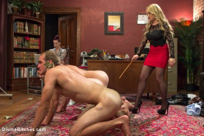 Photo number 6 from Corporate Scum CFNM Humiliation Take Over: Part 2 shot for Divine Bitches on Kink.com. Featuring Aiden Starr, Maitresse Madeline Marlowe , Jonah Marx, John Jammen and Jay Wimp in hardcore BDSM & Fetish porn.